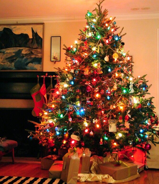 Vintage style multi-color C7 tree lights - Vintage Style Multi-color C7 Tree Lights Leave My Presents Here