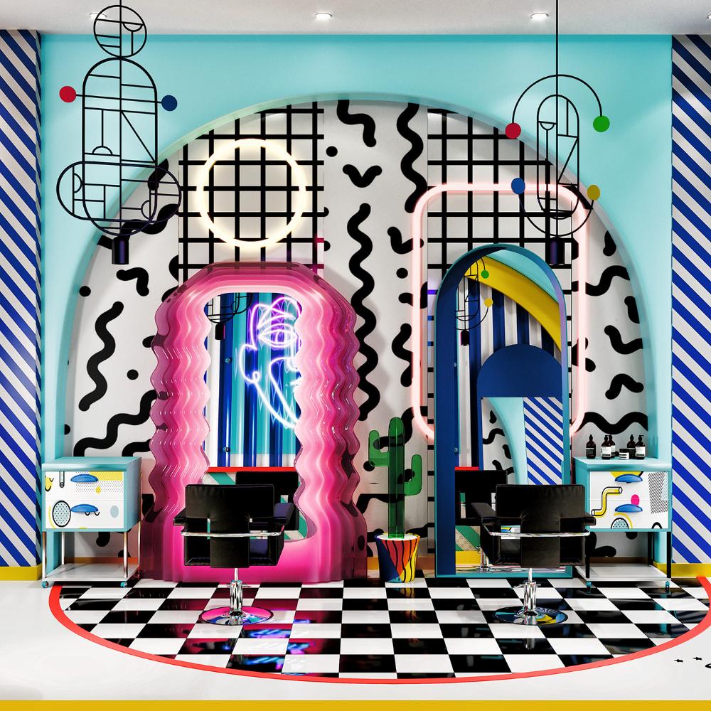 Conceptual Memphis Design - Hair Salon