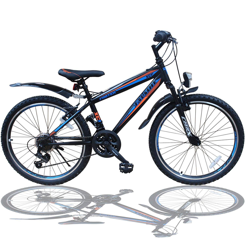 Talson 26 Zoll Mountainbike Fahrrad Mit Gabelfederung Beleuchtung 21 Gang Shimano Faster Bbo Amazon De Sport 20 Zoll Fahrrad Kinderfahrrad Kinder Fahrrad