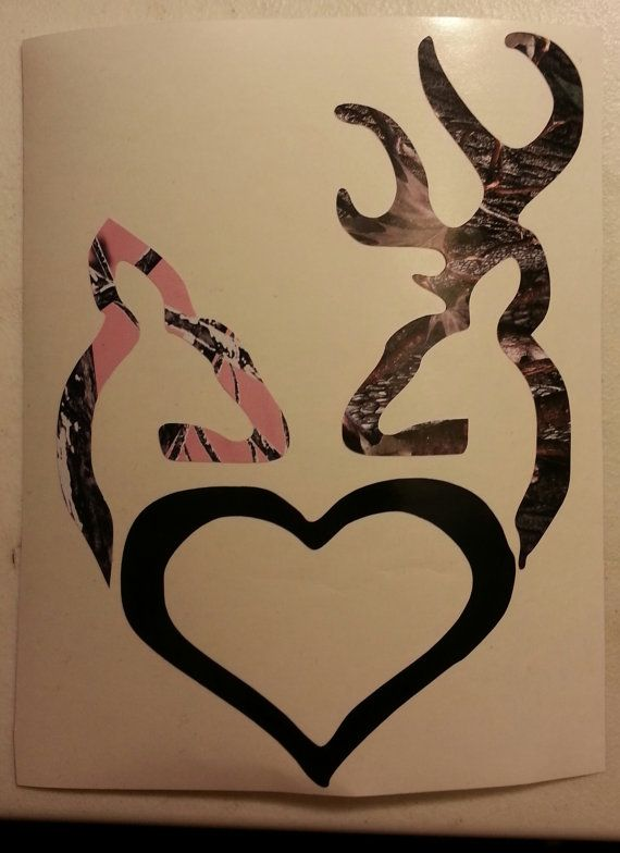 Browning Buck And Doe With Heart By Handtowelsbyolivia On Etsy 6 00 Wine Canvas Canvas