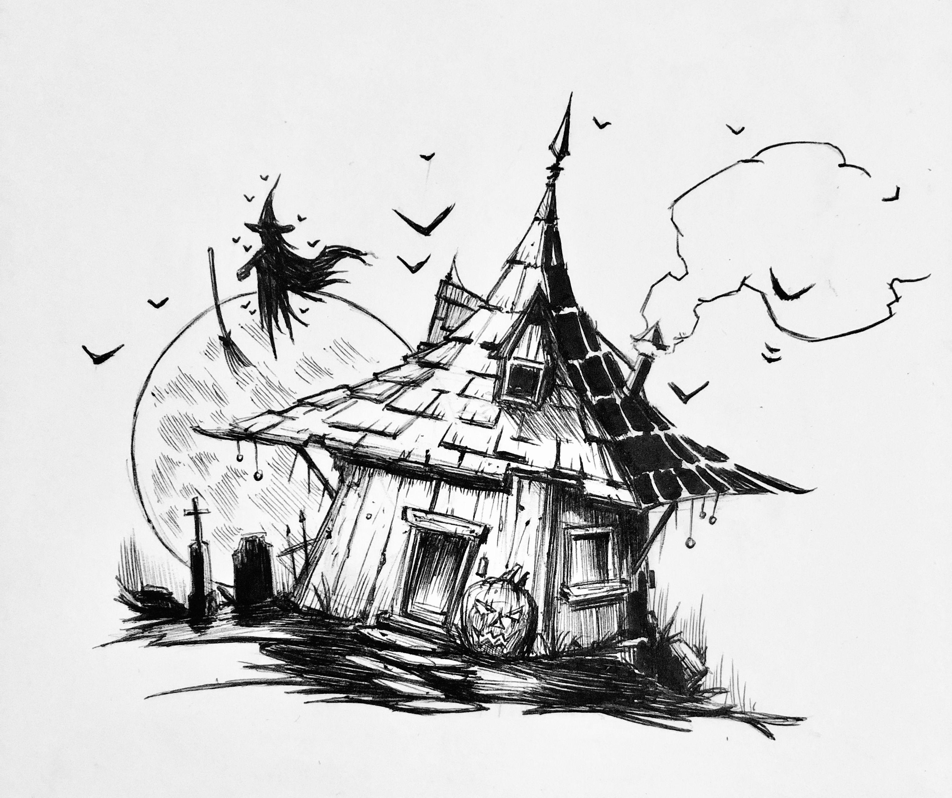 225/365 inktober inktober2018 witch hut house