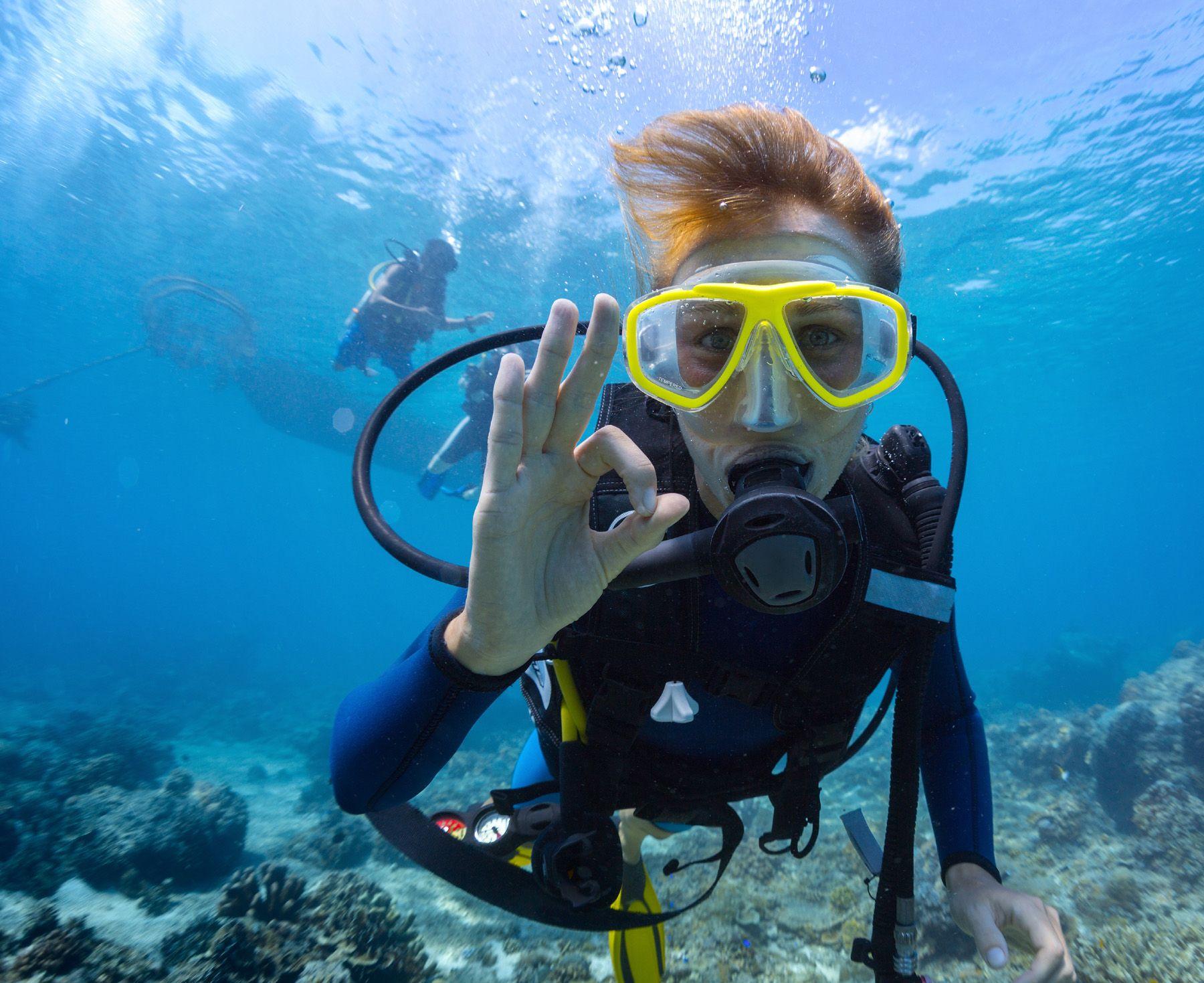 Gestures in the water scuba diver 51891 Scuba diving