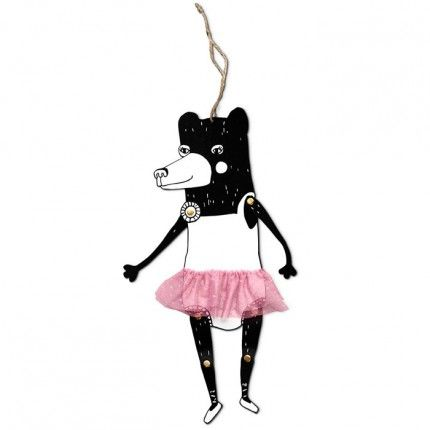 Jumping Bear With Pink Tutu