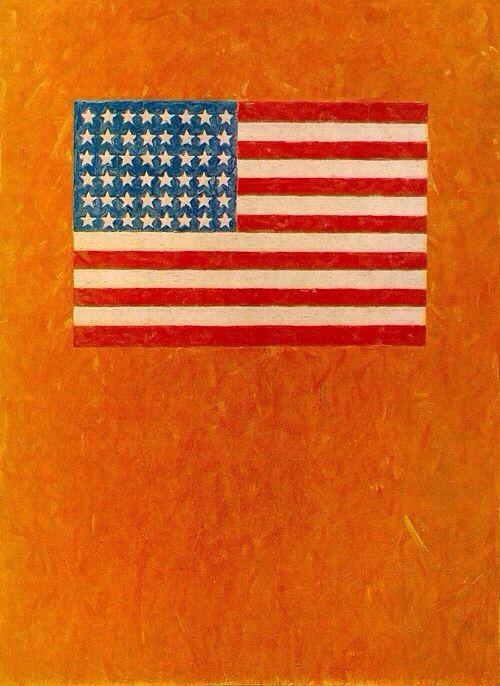 Flag On Orange Field 1957 Jasper Johns Jasper Johns Pop Art Art History