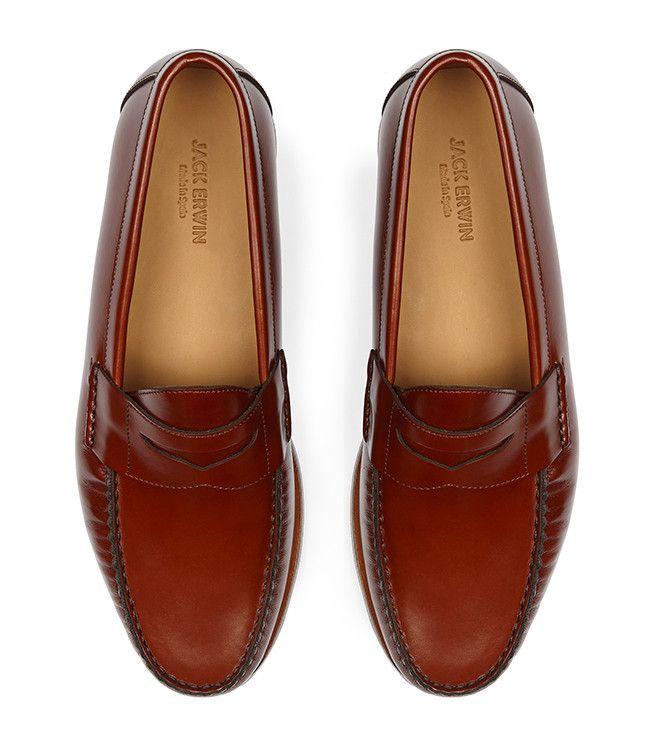 5160b055a1b Charlie Penny Loafer - Cognac - Jack Erwin