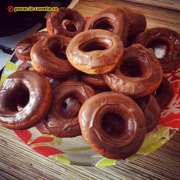 Нежные пончики без дрожжей   Повар на дому