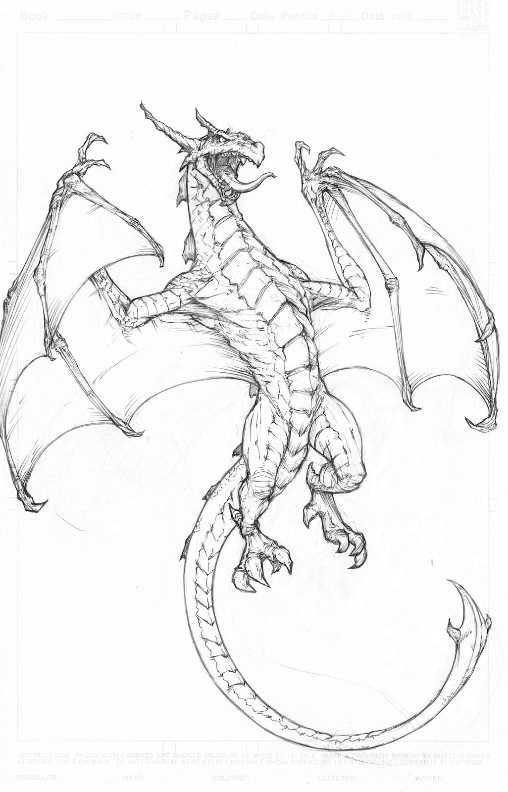 Amazing Drawings Of Dragons