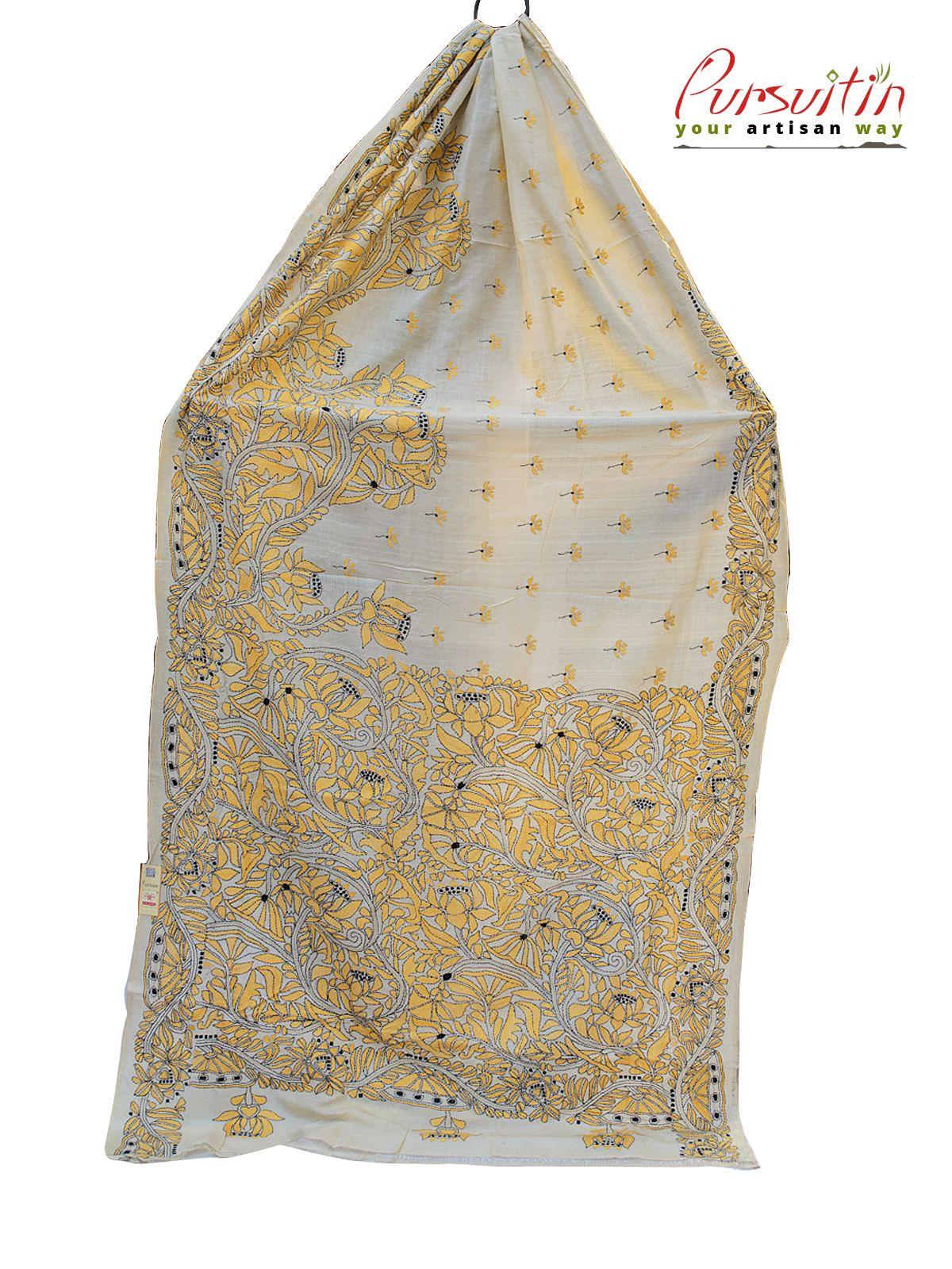 Hand Stitched Designer Saree Santiniketan Handicrafts Will Be