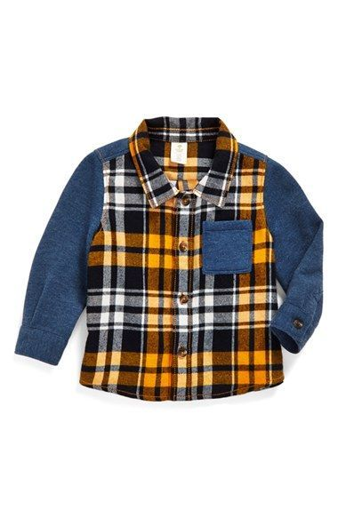 7258b5e3d Tucker + Tate Contrast Sleeve Flannel Shirt. Find this Pin and more on little  boy ...