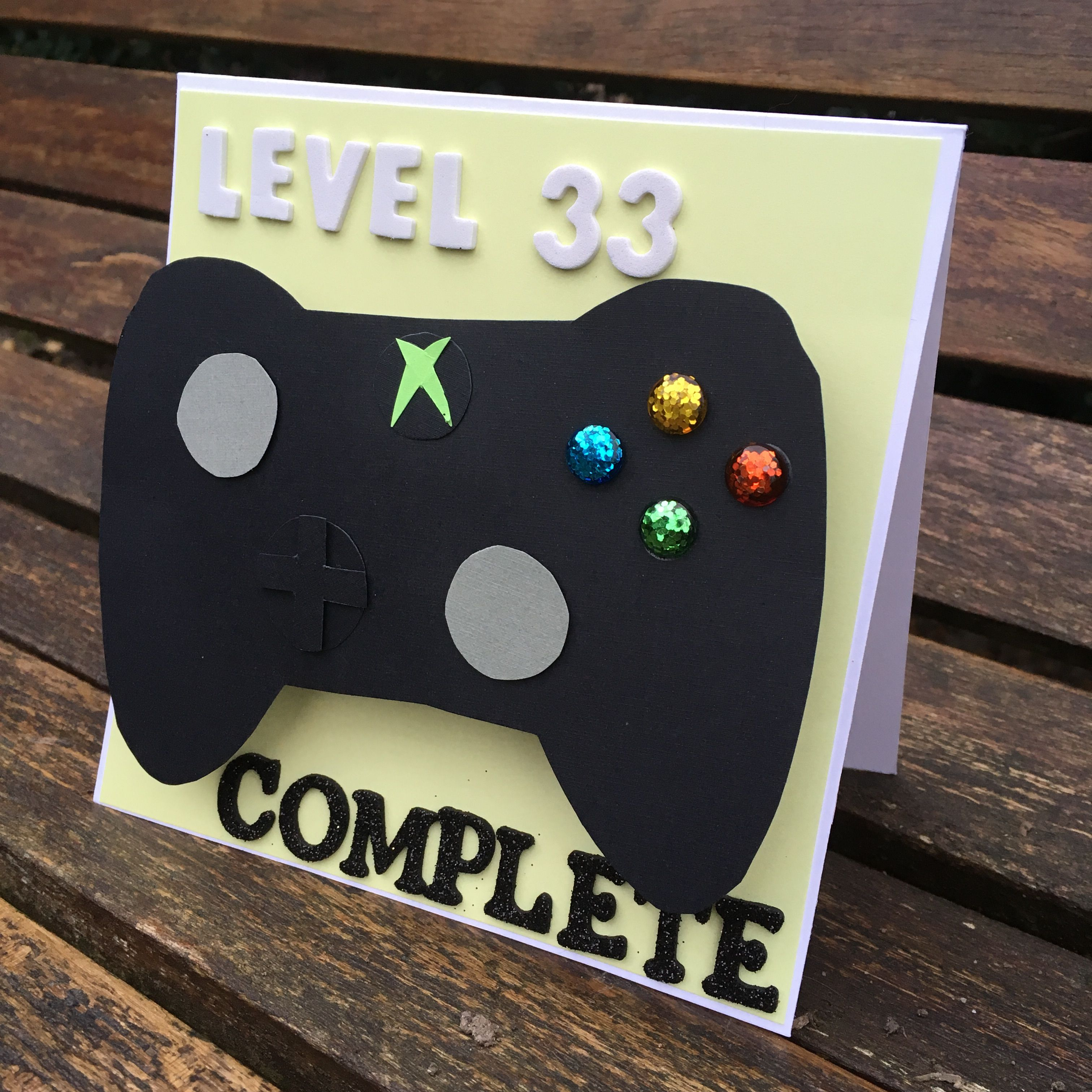 Xbox controller birthday card by IHeartMaggie  First birthday
