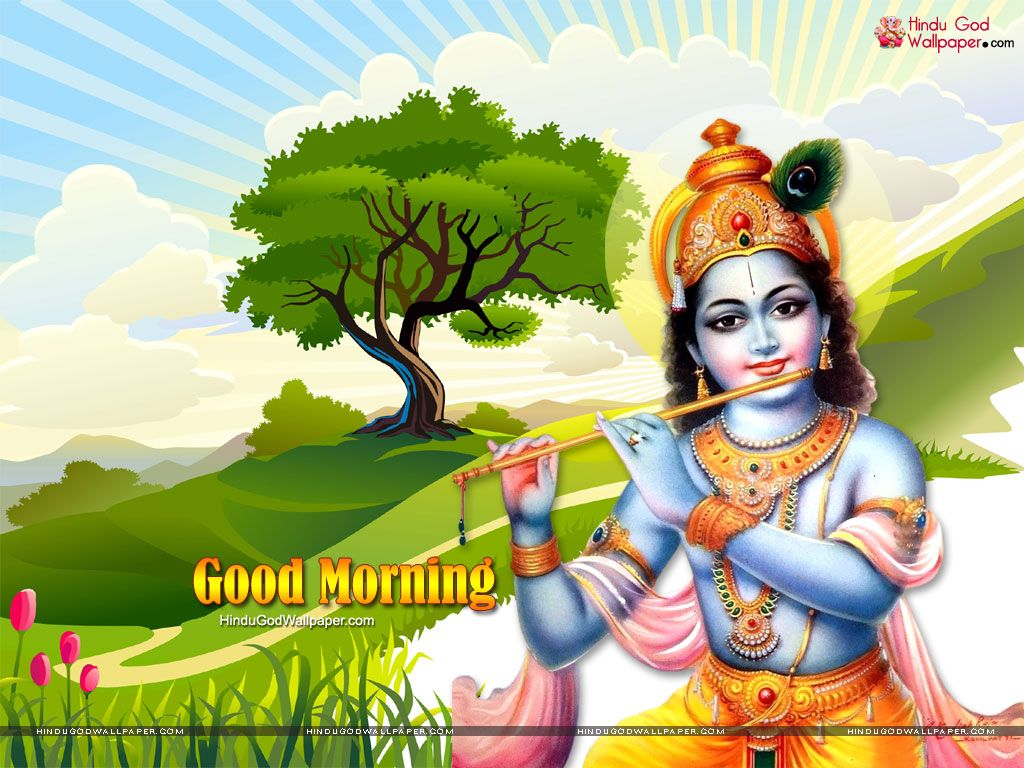 Good Morning Krishna Wallpapers Images Download A Krishna