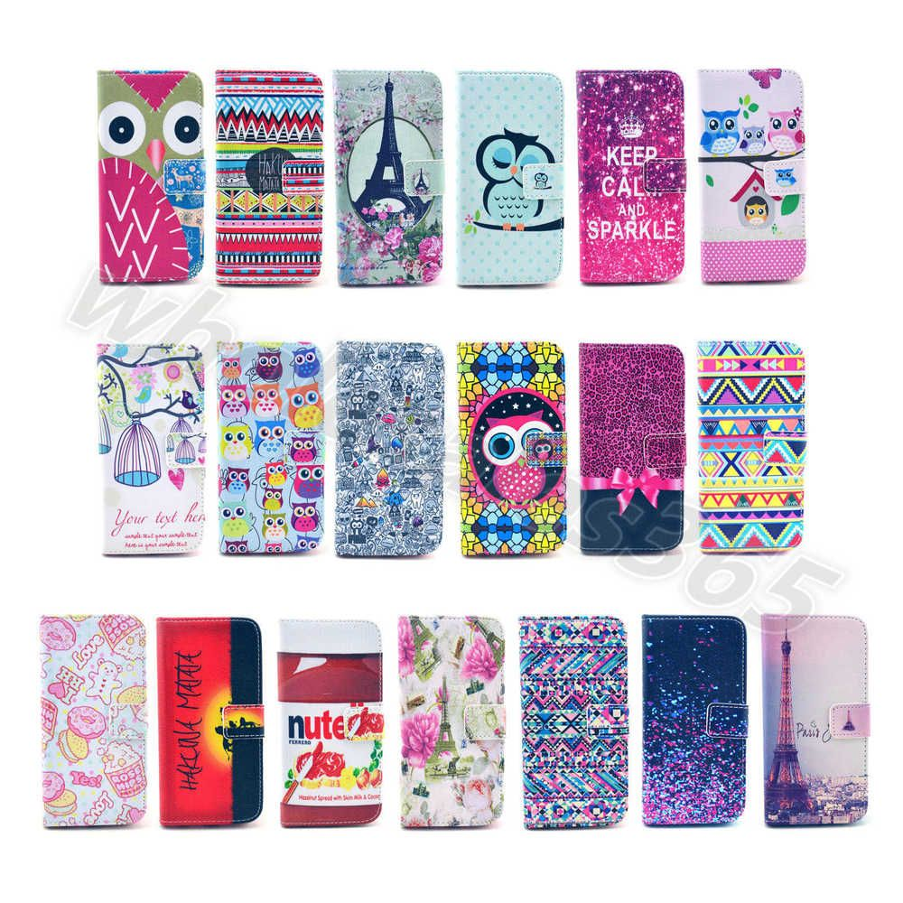 1×For iPhone LG Various Pretty Patterns PU Leather Card Wallet Case Rubber Cover #UnbrandedGeneric #MediaStandFlipMagnetic