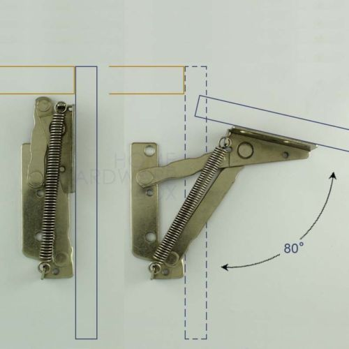Pair of cabinet door lift up flap top support spring kitchen ...
