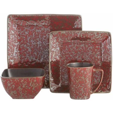 Mojave Red 16-Piece Dinner Set - Walmart.com