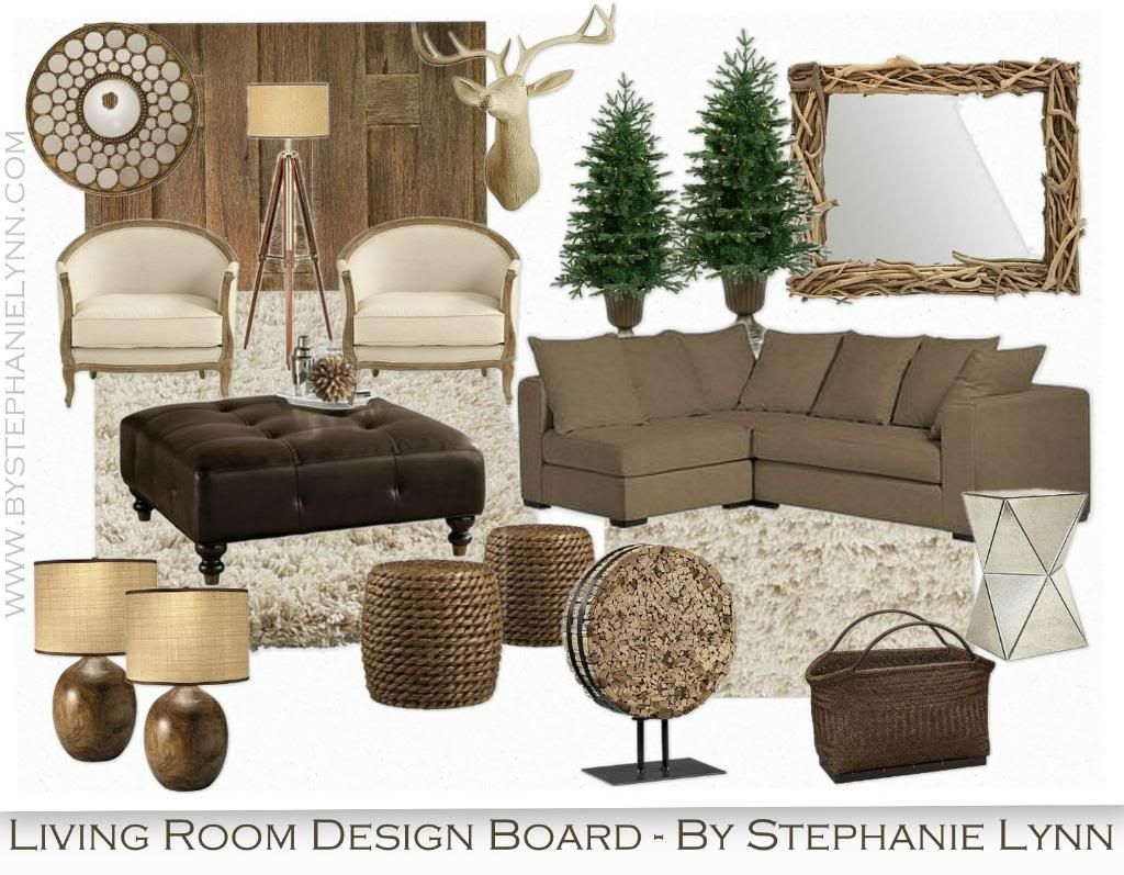 Under The Table and Dreaming: The Good Mood Board {Living Room Edition}