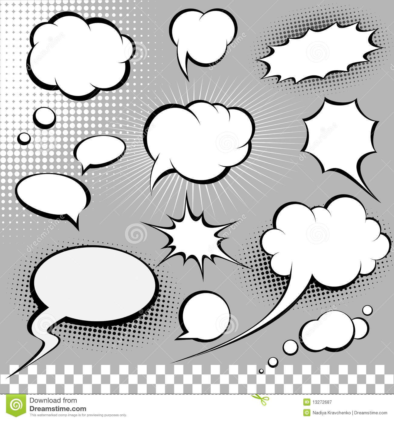 Comic Speech Bubbles Royalty Free Stock Photography - Image ...