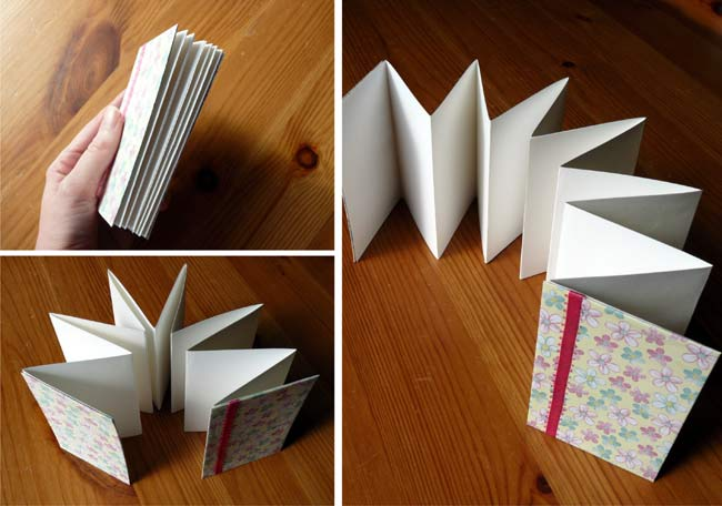 How To Make An Accordion Book Brightly Handmade Books Accordion Book Accordian Book