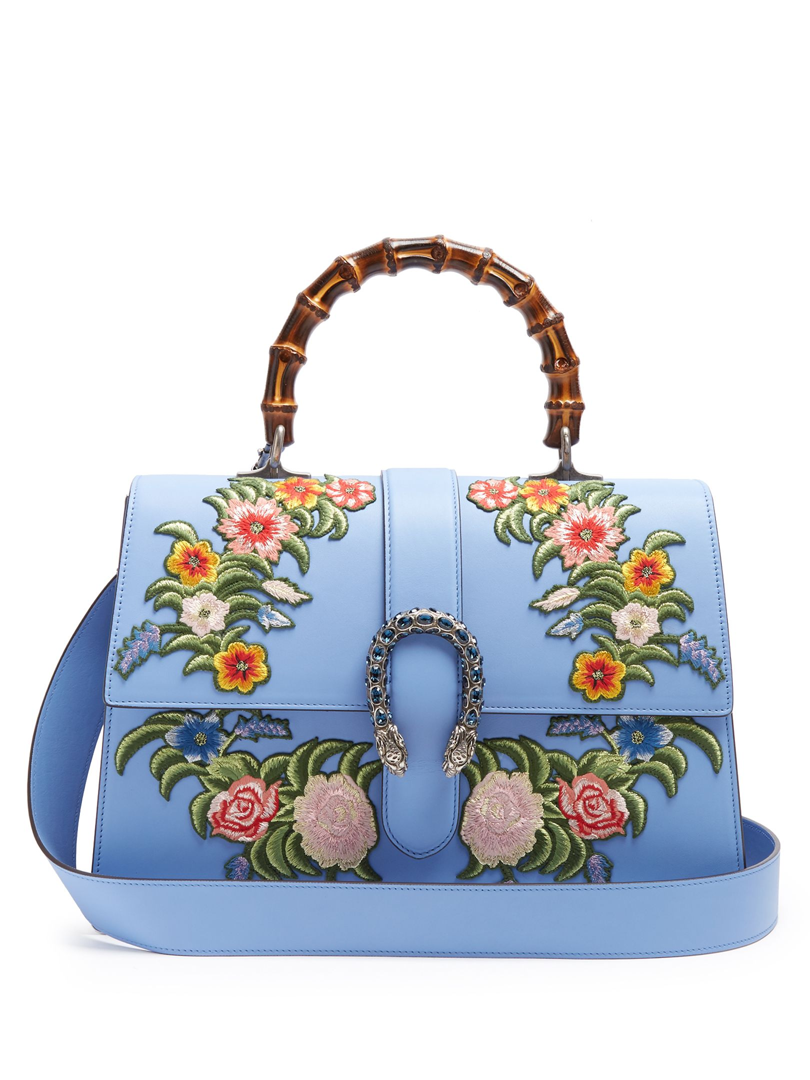 132782b08c GUCCI Dionysus large floral-embroidered leather tote   Bag Lady ...
