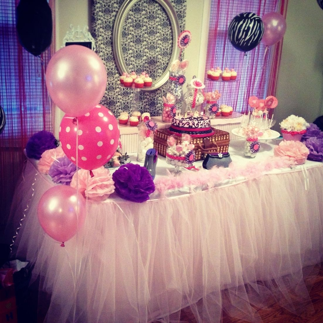 Candy Table For A Twelve Years Old Girl 13th Birthday