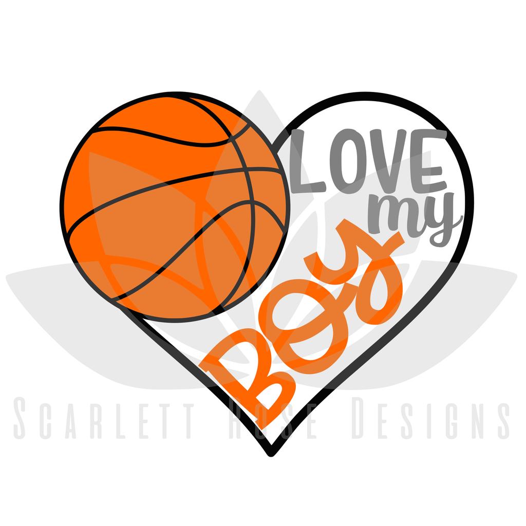 Download Basketball Sports SVG cut file, Love my Boy Basketball ...