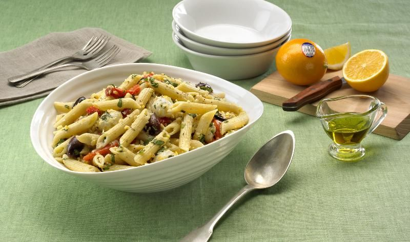 Sunkist Meyer Lemon Pesto Pasta Recipe - So simple, yet so delicious! This dish has a unique sweeter taste and lower acidity to make a perfect lemon based pasta dish.
