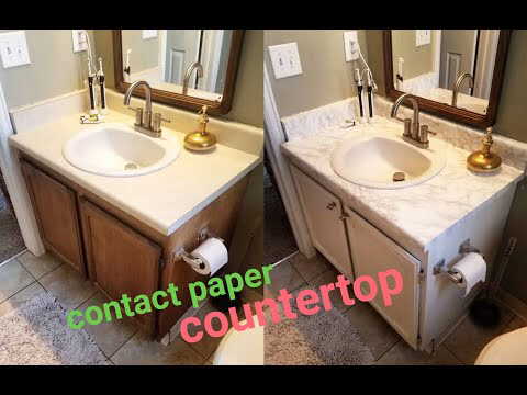 Diy Marble Contact Paper Over Formica Bathroom Countertop Youtube Contact Paper Countertop Diy Marble Contact Paper Bathroom Countertops
