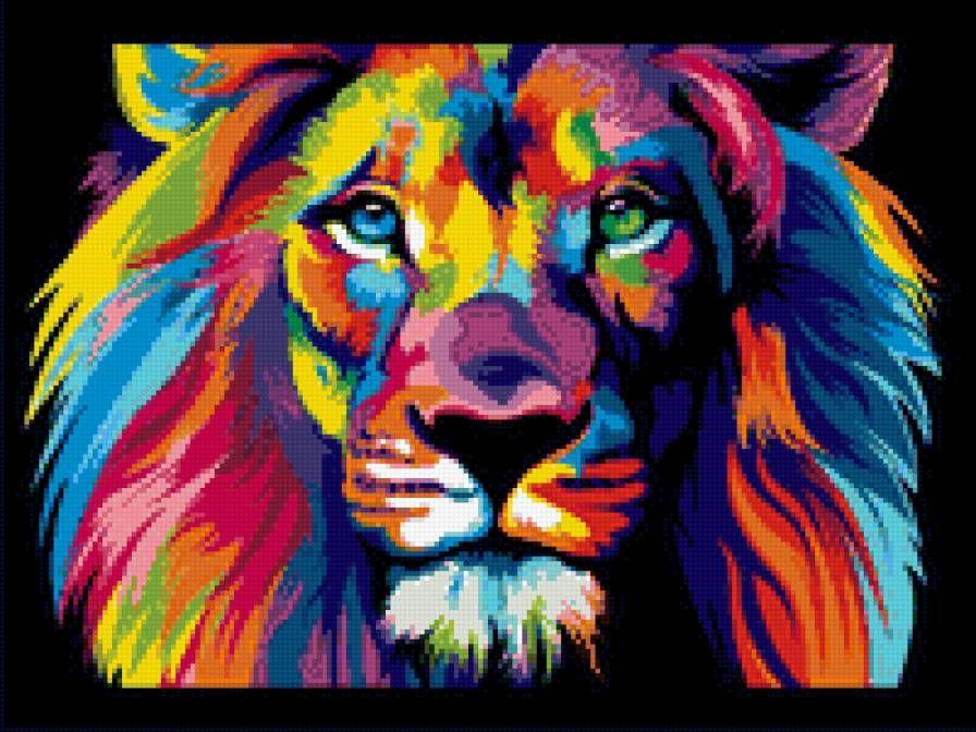 вышивка крестом лев - Пошук Google