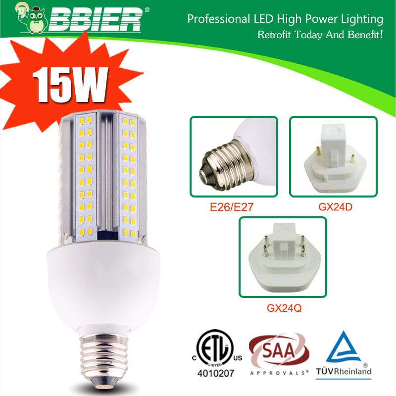 15w Gx24q Led Corn Light Bulbs Etl Saa Tuv Certified With Images Street Lamp Light Bulbs Led