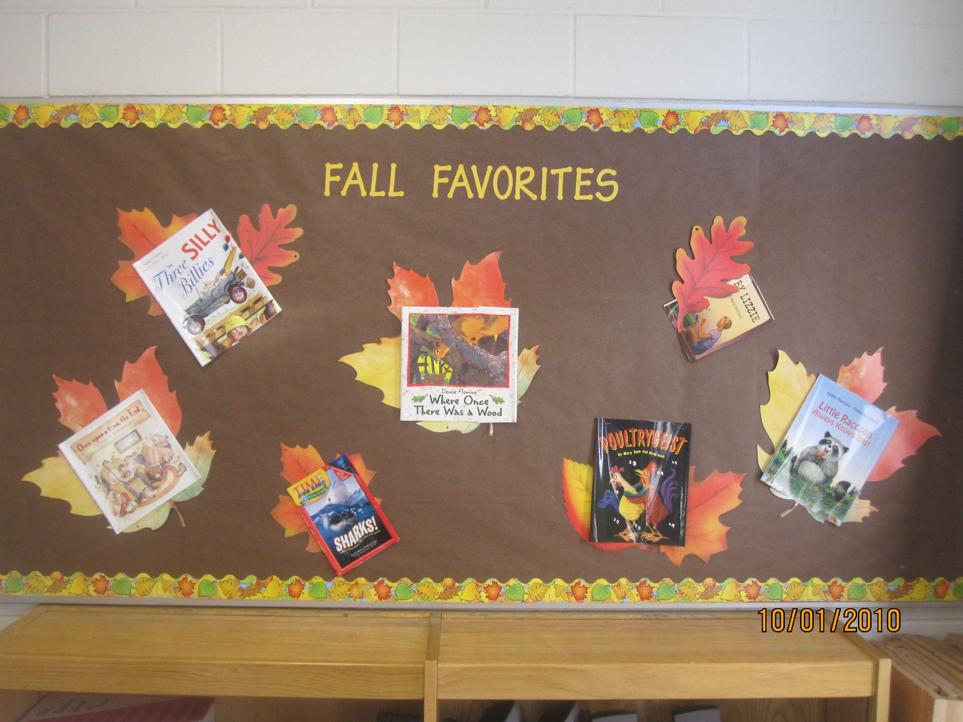 Fall bulletin board reading bulletin boards pinterest for Fall bulletin board ideas