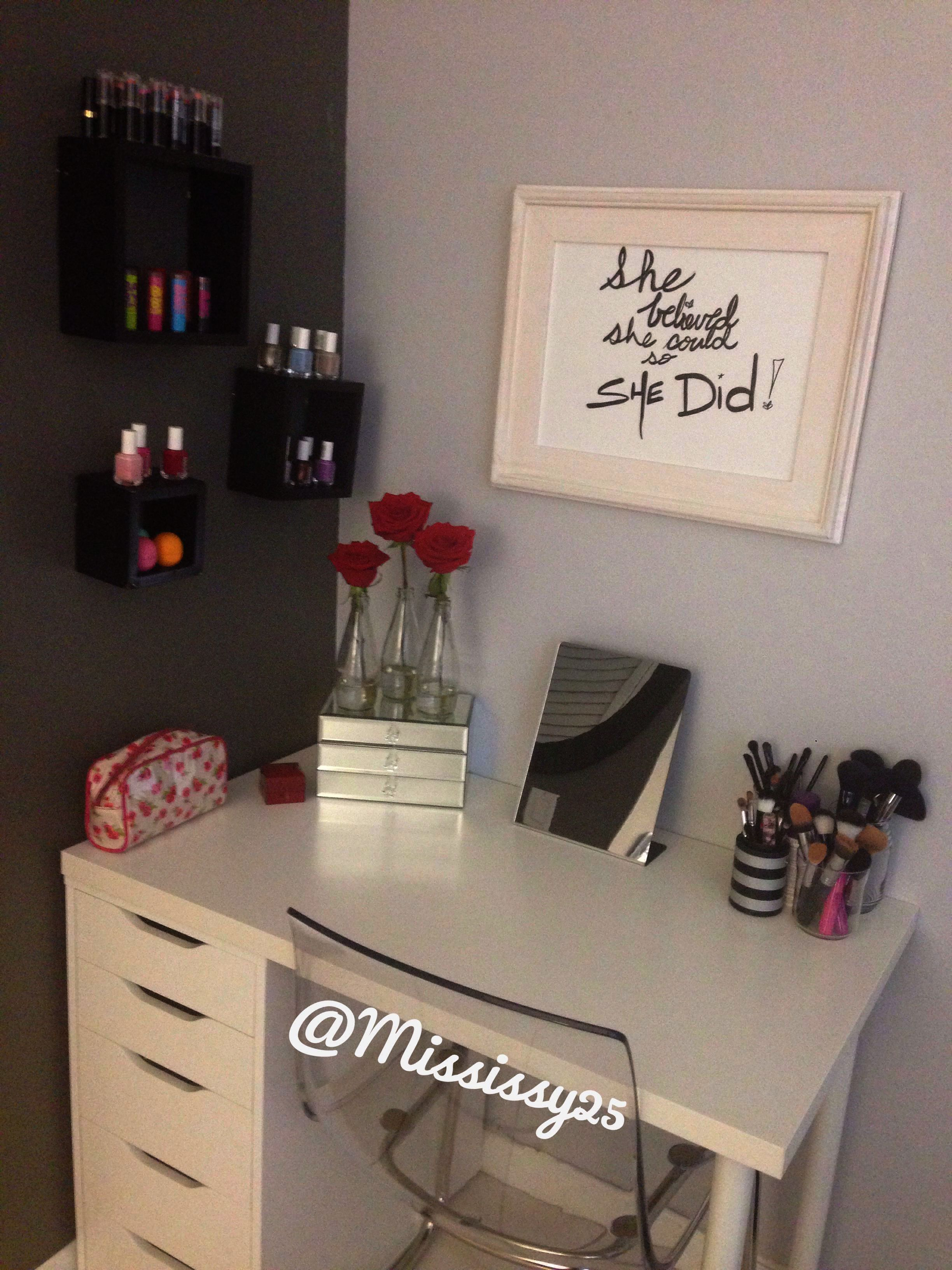 Makeup Brushes Tarte Against Makeup Organizer Lipstick Ikea Vanity Beauty Room Ikea Vanity Table