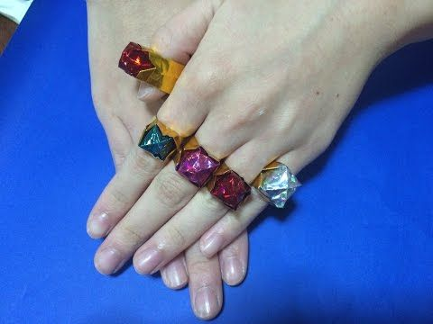 Origami Ring 折り紙 指輪 折り方 Origami Paper Origami Paper Beads