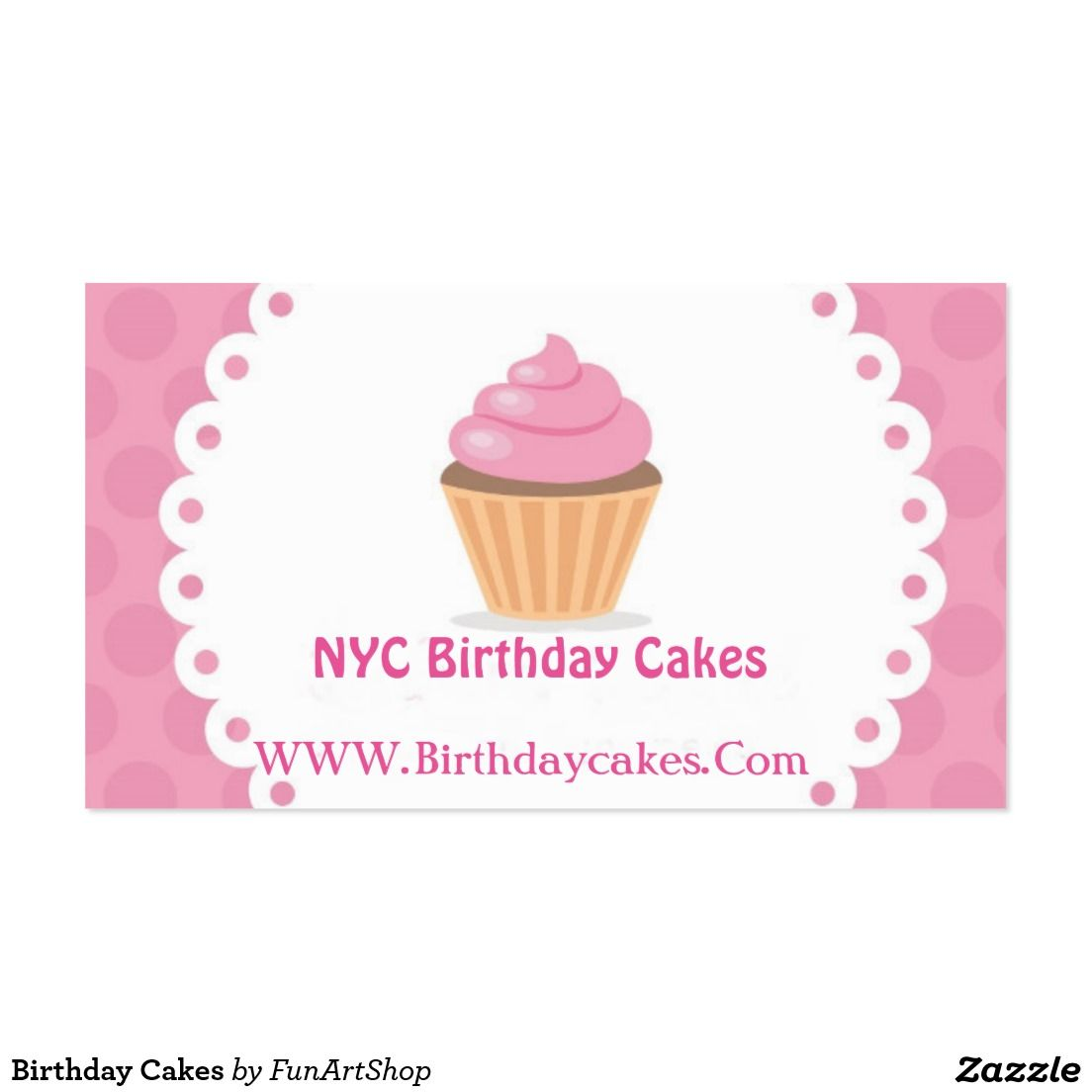 Birthday Cakes Business Card
