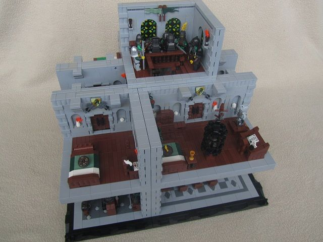 Lego Castle Moc Fortress Of Cameria Interior By Isaac Snyder Overview Lego Castle