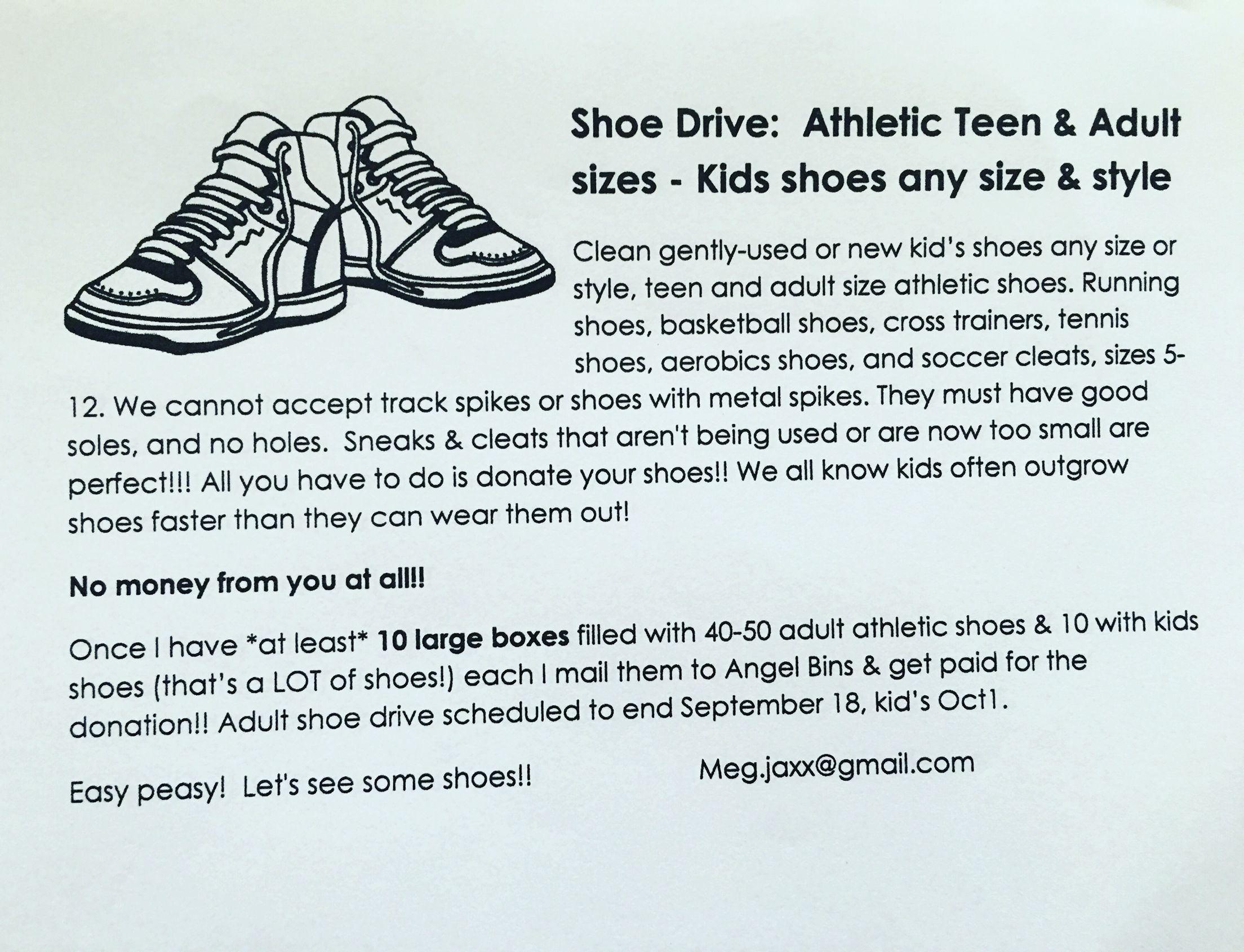 Shoe Drive Fundraiser To Beat Ms
