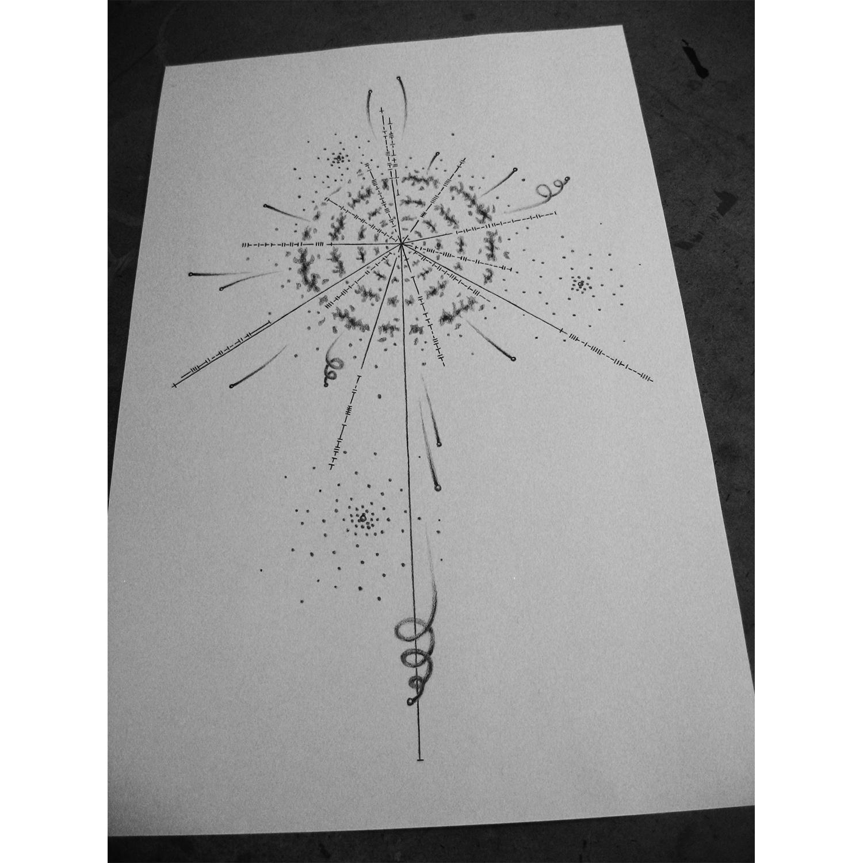 Pulsar Map Tattoo Design [OC] | Tattoo | Pinterest | Pulsar map, Map ...