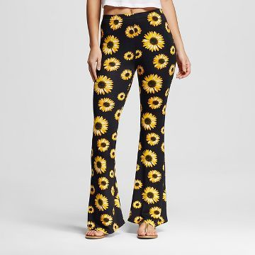 1633a943618332 Juniors' Flare Leggings Sunflower Black Large - Xhilaration ...