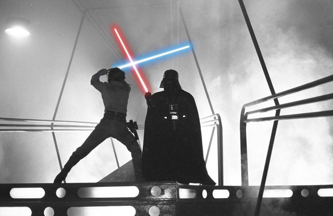 Luke Skywalker Vs Darth Vader From The Empire Strikes Back