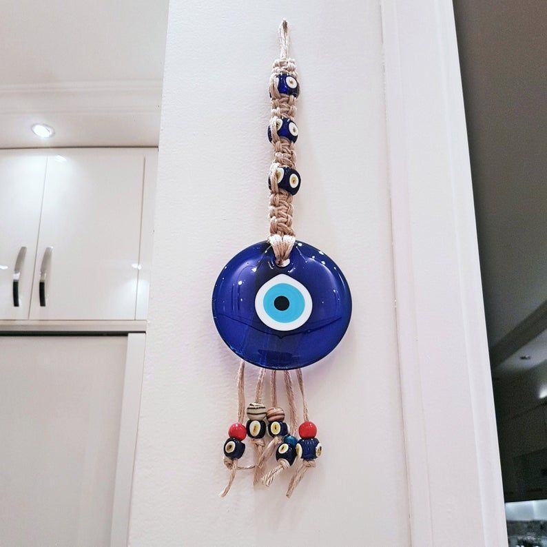 Evil Eyes Wall Hanging With Rope Beautiful Home Decor And Perfect Fit For Your Home This Product Is Made Of Quality Materials Eye Decor Wall Hanging Hanging