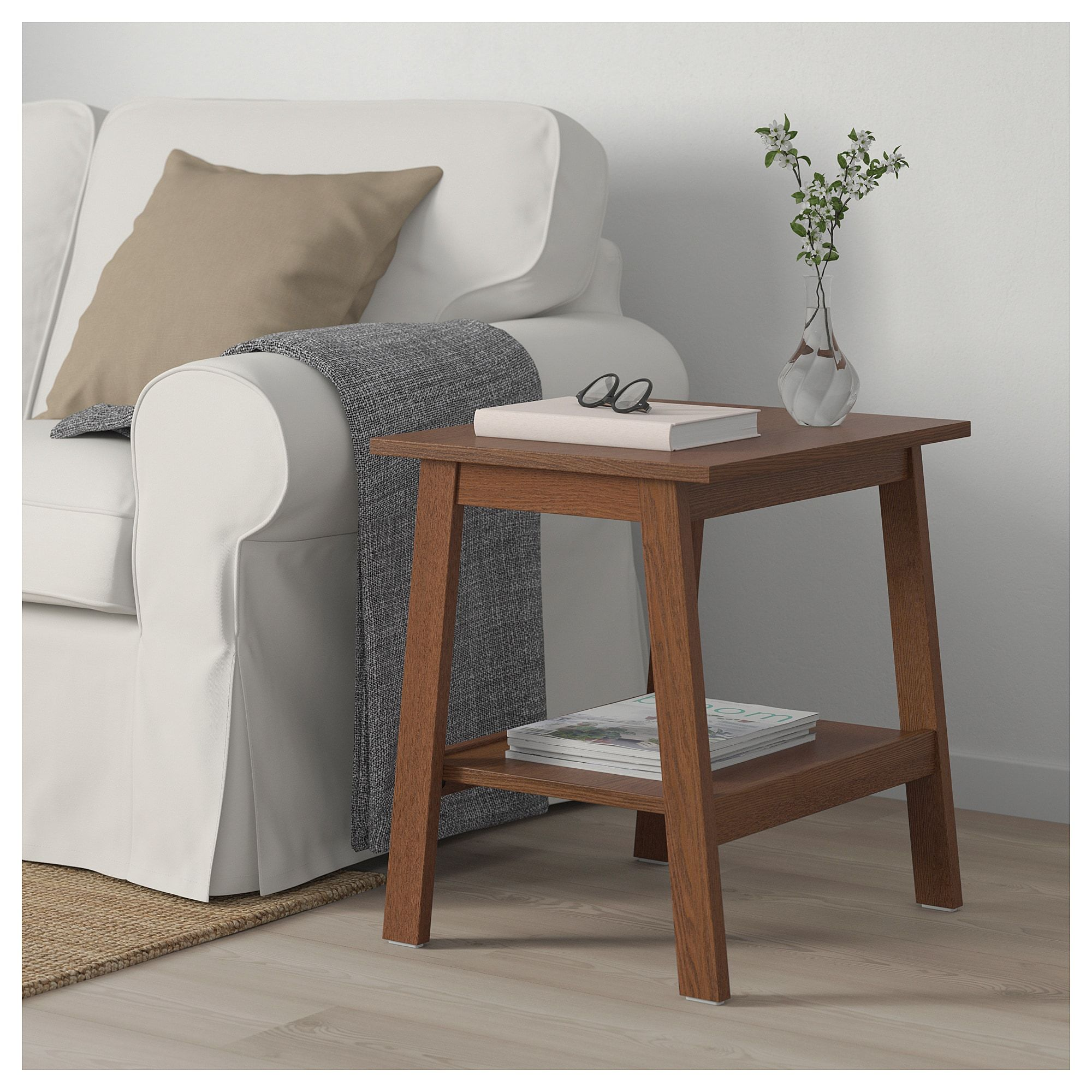 Ikea Lunnarp Brown Side Table In 2019