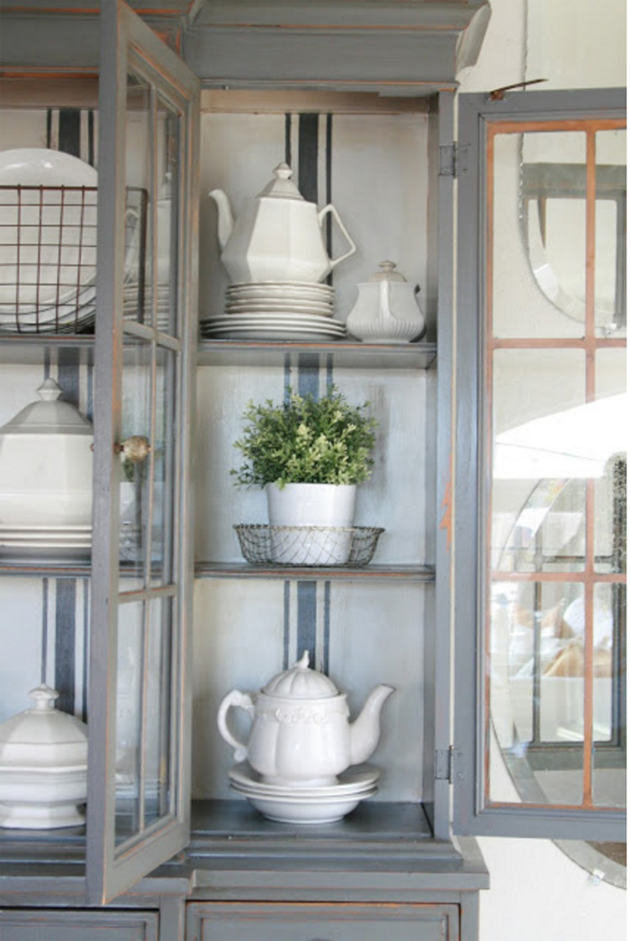 China Cabinet Styling Ideas Decor Painted Cabinets Farmhouse Dining Room