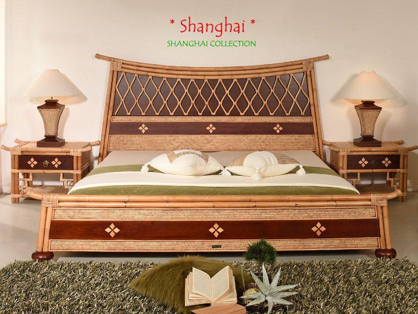 Shanghai Luxus Designerbett 140x200 Das Besondere Rattanbett Shanghai Collection Rattanbett Designer Bett Bettrahmen