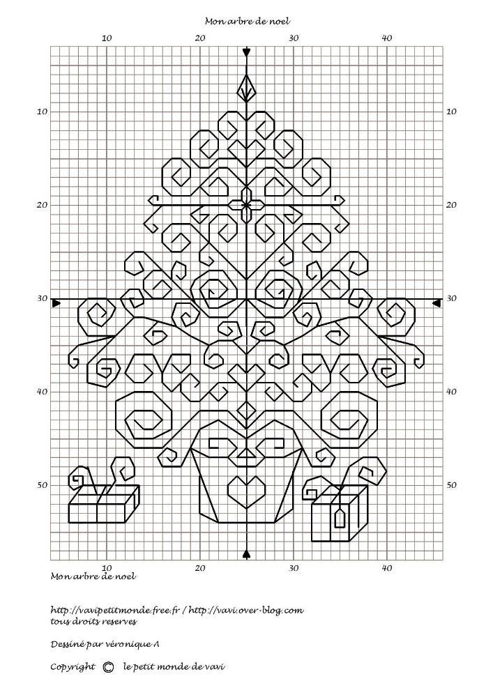 Blackwork Christmas tree | Special Occasions Cross Stitch Patterns ...