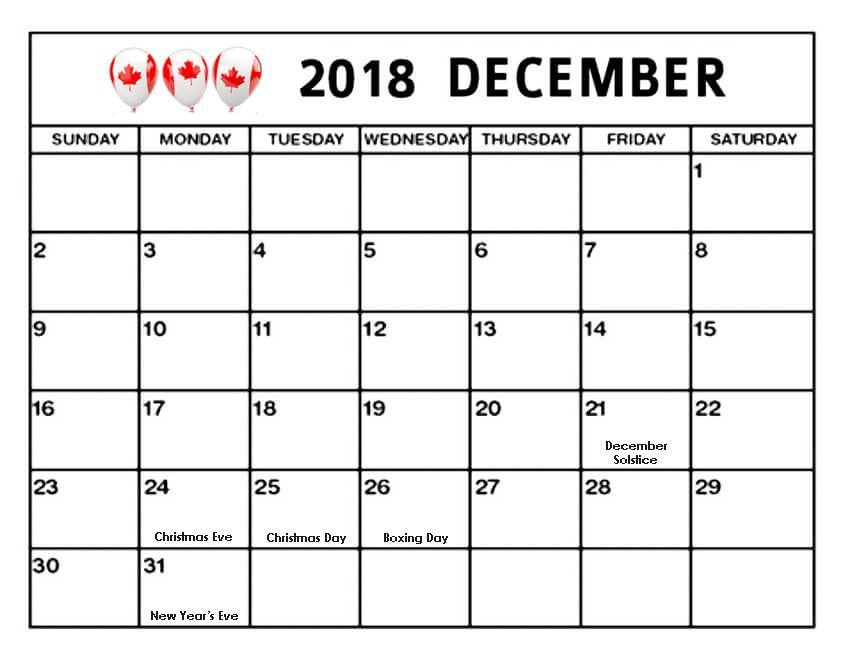 december 2018 calendar canada bank holidays canadacalendar december2018calendarcanada 2018decembercanadacalendar canadaholidayscalendar