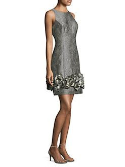 05cdc8194d3 Aidan Mattox - Sleeveless Brocade Cocktail Dress