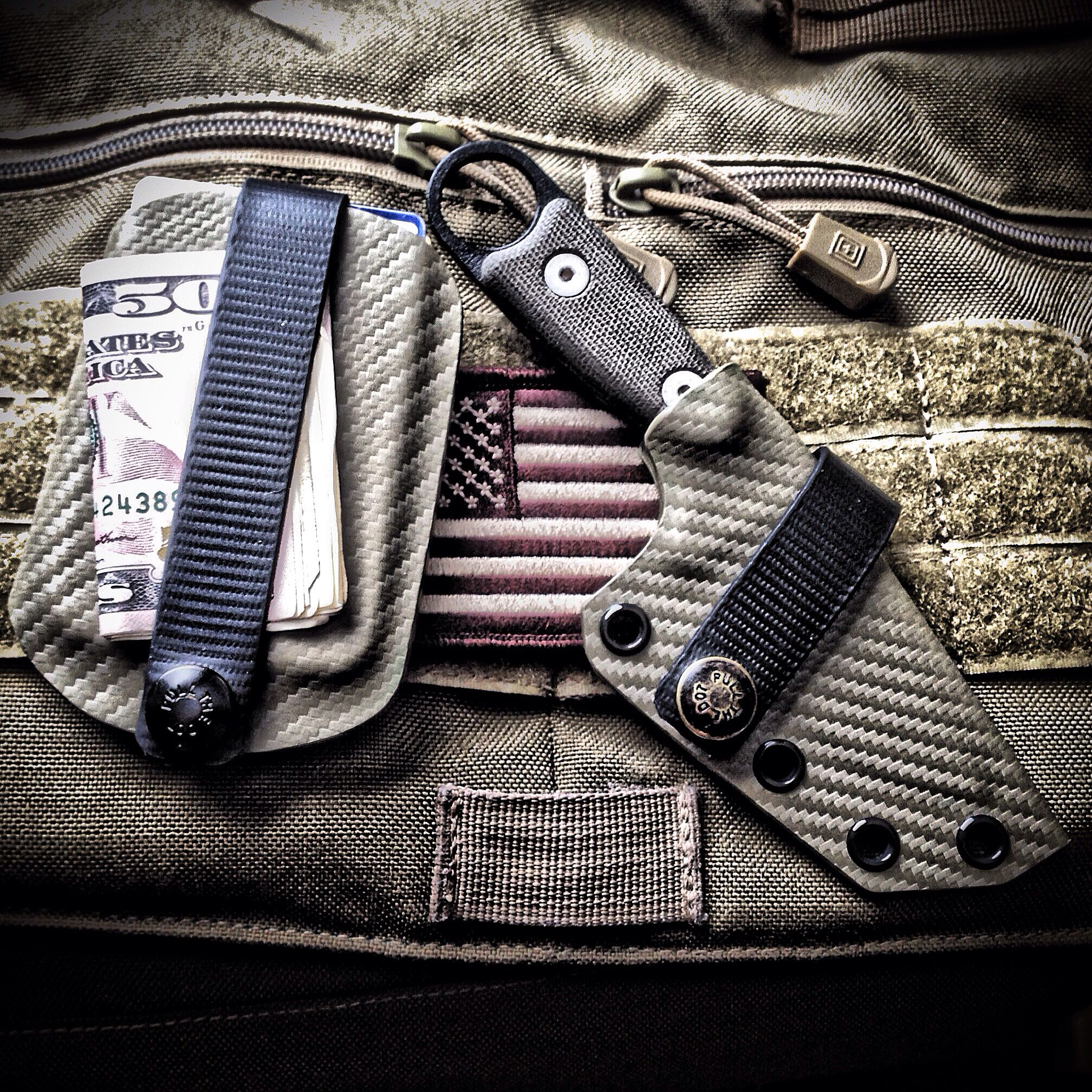 Vita EDC Wallet And Custom ESEE Izula Sheath By Armatus