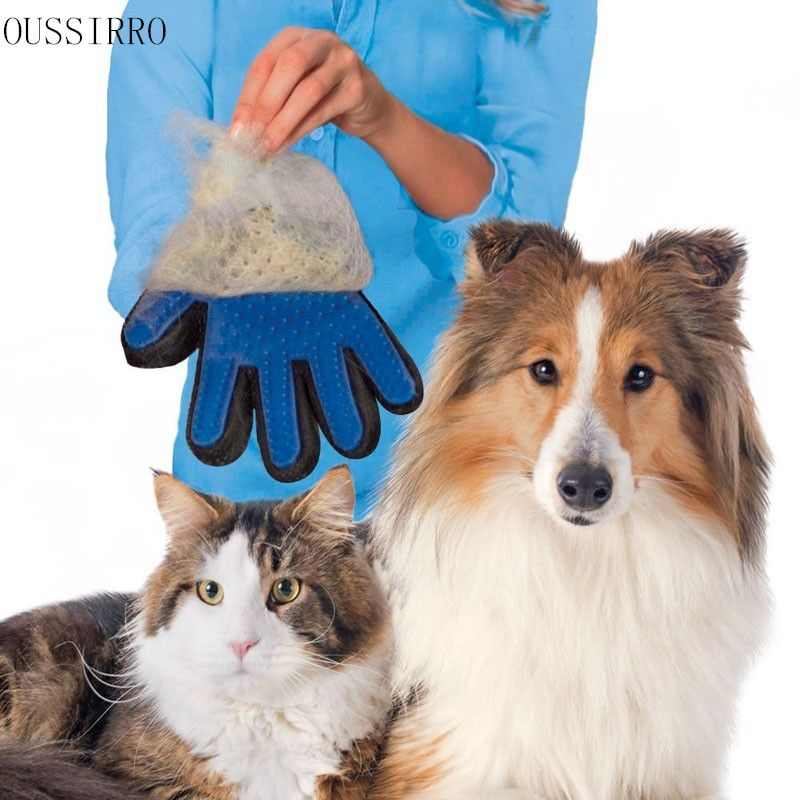 Combs. New OUSSIRRO 2017 Amazing Glove Tool Pet Grooming for Remove Cat Dog Dirt Hair Dander Five Finger Glove. #Combs
