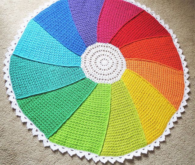 Color Whirl Blanket pattern by Justine Walley | Bordes de ganchillo ...