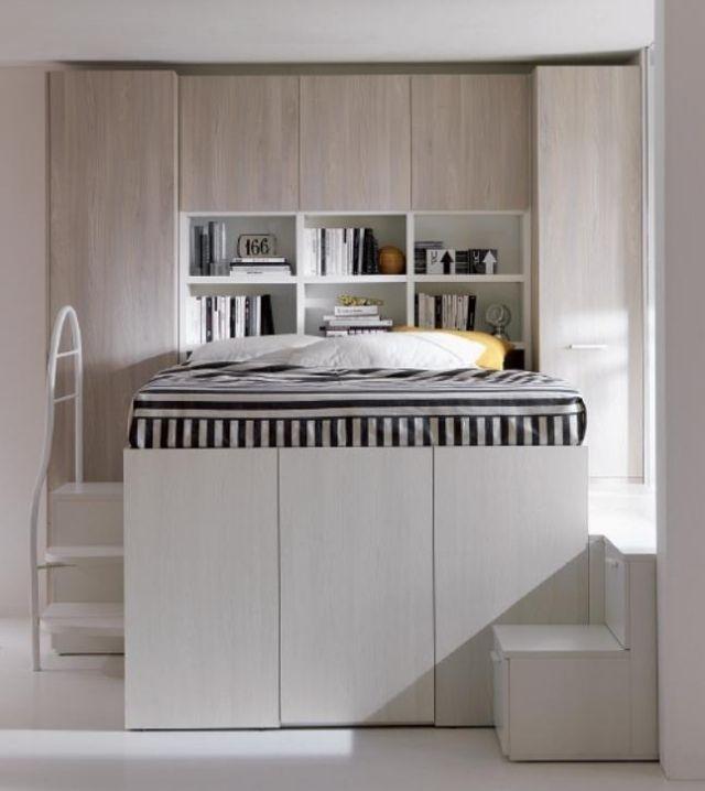 lit mezzanine deux places fonctionalit et variantes cr atives parental room bedroom bed. Black Bedroom Furniture Sets. Home Design Ideas