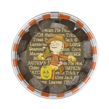 Halloween Scarecrow Brownie Candy Party Favors Gum - #halloween