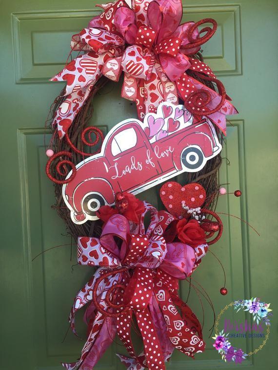 Valentine's Day Wreath, Valentine's grapevine wrea